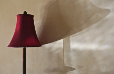 90. Red Lampshade and Shadow.jpg